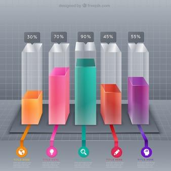 Barres colorées infographie