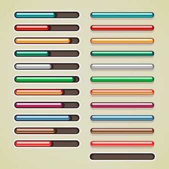 Barres colorées pour les jeux