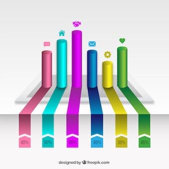 Les barres de couleur infographie