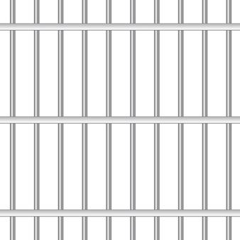 Barres de prison en acier 3d réalistes.