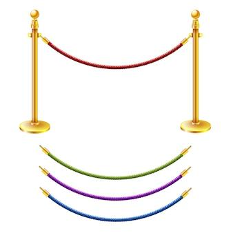 Barrière de corde