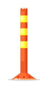 Barrière de pilier rayé de vecteur isolée