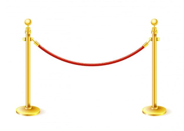 La barrière sur le tapis rouge de velours de cinéma