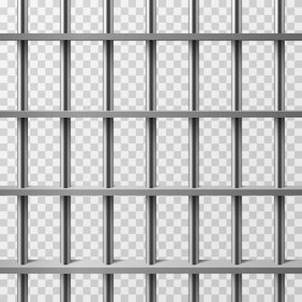 Bars de cellules de prison isolés. fond de vecteur de prison