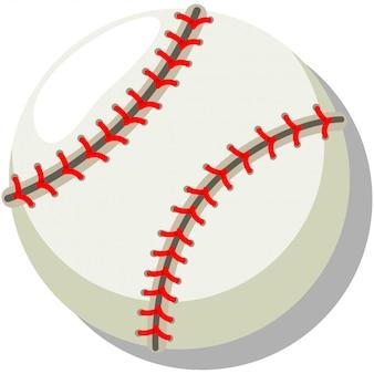 Base-ball. illustration de vecteur de dessin animé isolé sur blanc