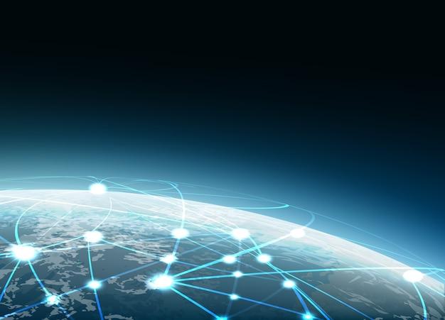 Base de données de la chaîne de blocs concept technologique blockchain