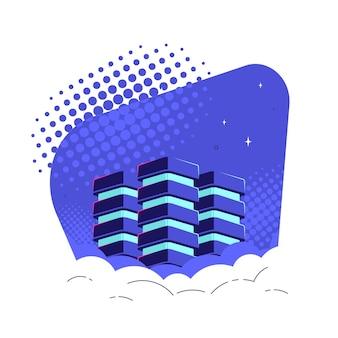 Base de données dans les nuages, concept de stockage et de traitement de big data