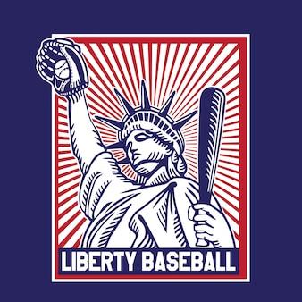 Baseball américain liberty