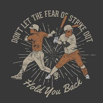 Baseball dessiné à la main vintage avec effet grunge et fond d'éclat d'étoile