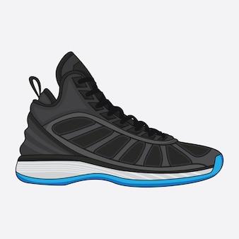 Basket-ball de chaussures de sport de vecteur