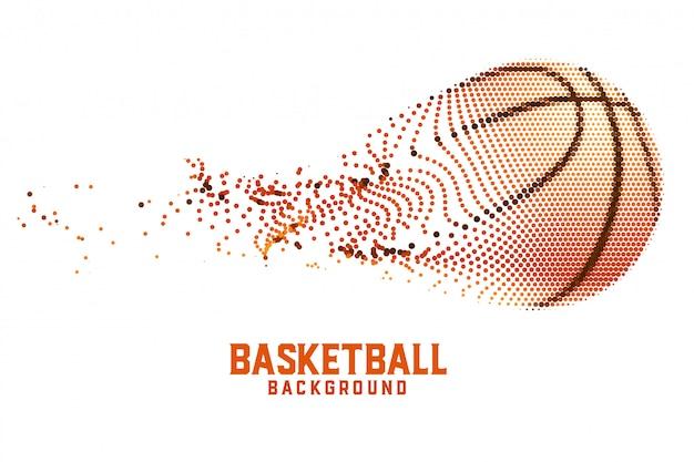 Basket-ball créatif fait de particules abstraites