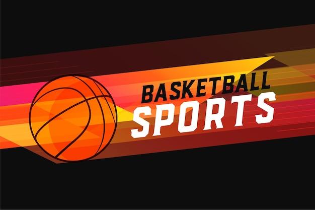 Basket-ball de style sportif abstrait