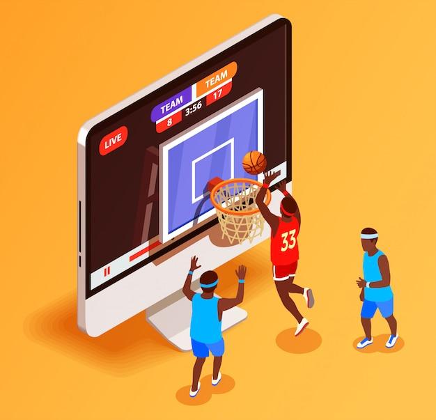 Basketball en ligne isométrique
