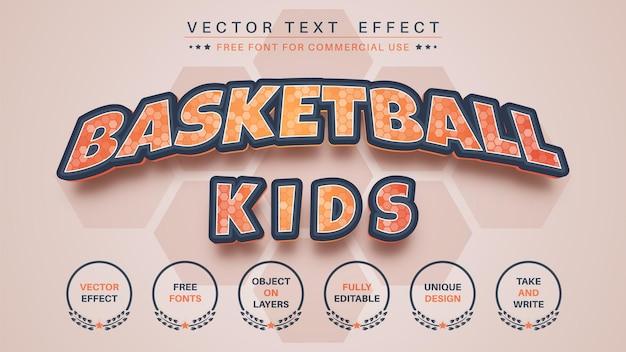 Basketball modifier le style de police d'effet de texte