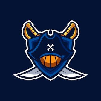 Basketball pirates logo sports