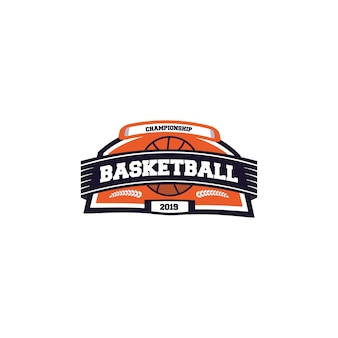 Basketball sports logo design