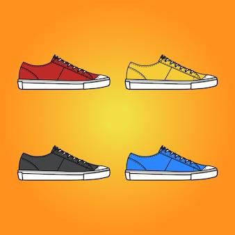 Baskets chaussures vecteur premium