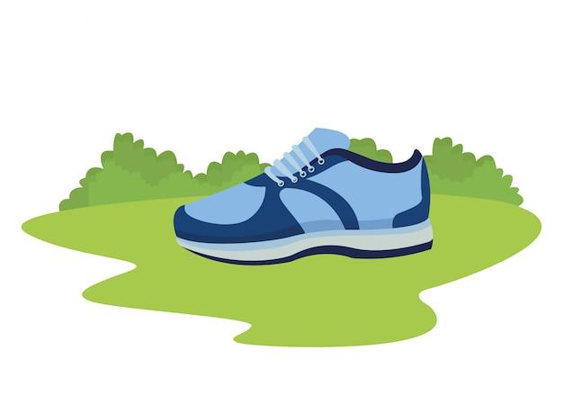 Baskets avec dessin de chaussures
