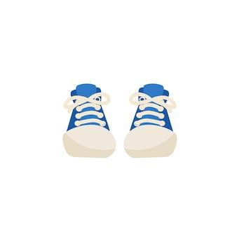Baskets à la mode de dessin animé plat, concept d'illustration vectorielle de mode shopping