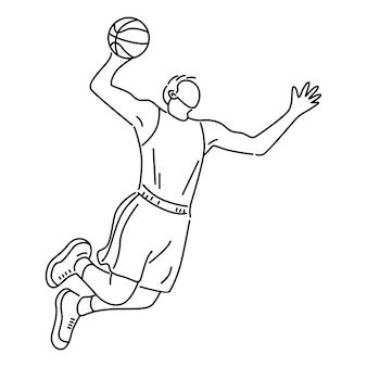 Basketteur dunking