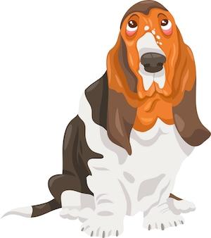 Basset hound chien cartoon illustration