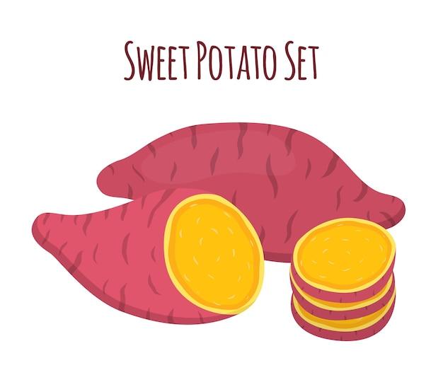 Batat brun, patate douce et tranches