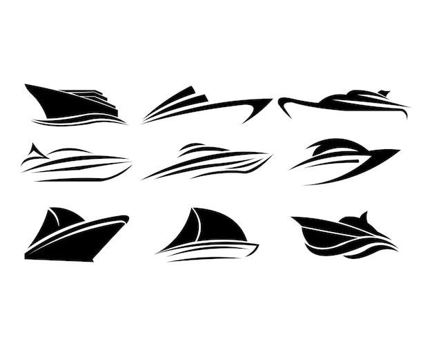 Bateau bateau mer voile vector logo