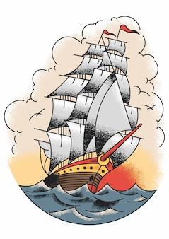 Le bateau de marin jerry