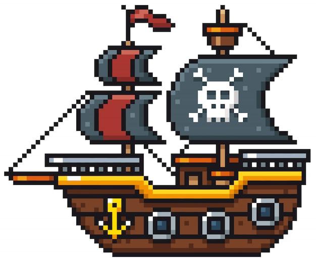 Bateau pirate de dessin animé