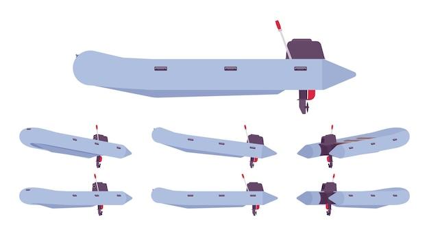 Bateau pneumatique avec moteur hors-bord