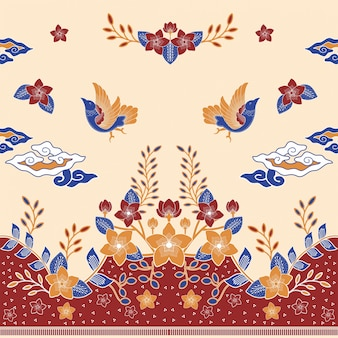 Batik oiseau d'amour