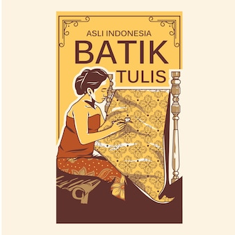 Batik tulis illustration