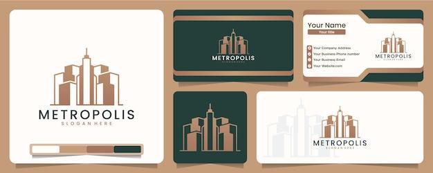 Bâtiment, aménagement, construction et construction, inspiration de conception de logo