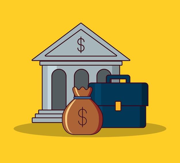Bâtiment de la banque et conception de l'argent