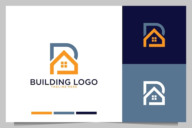 Bâtiment avec création de logo lettre b