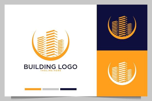 Bâtiment avec un design de logo de style élégant
