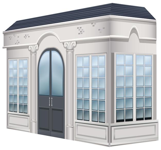 Bâtiment du musée avec de grandes portes
