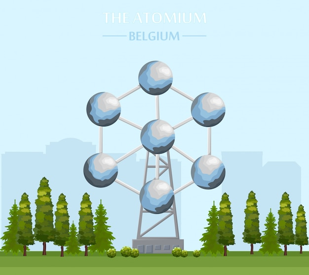 Le bâtiment emblématique de l'atomium à bruxelles