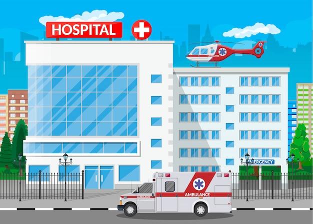 Bâtiment de l'hôpital, icône médicale.