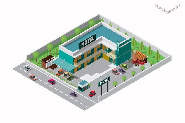 Bâtiment de l'hôtel isométrique