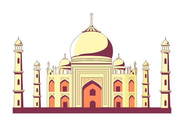 Bâtiment indien célèbre du taj mahal