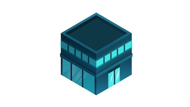 Bâtiment isolé illustration vectorielle