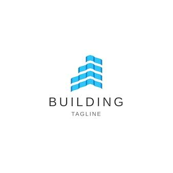Bâtiment logo icône design template vecteur plat