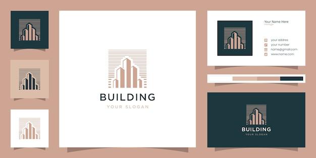 Bâtiment avec logo de style art en ligne et carte de visite
