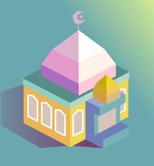 Bâtiment de la mosquée islamique