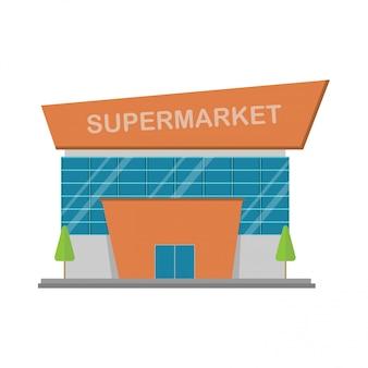 Bâtiment de supermarché.