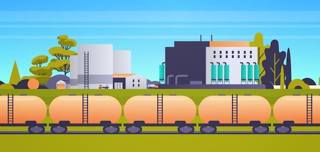 Bâtiment d'usine zone industrielle usine centrale électrique production technologie concept