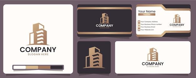 Bâtiments, agencements de bâtiments, beautés de bâtiment, pour les entreprises d'équipement et de construction, inspiration de conception de logo