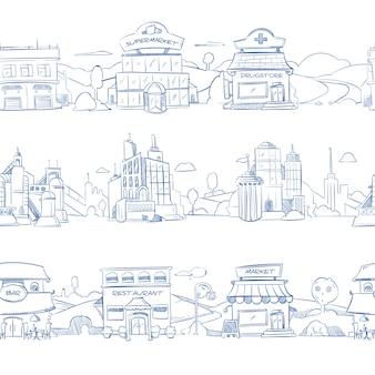 Bâtiments commerciaux de la ville