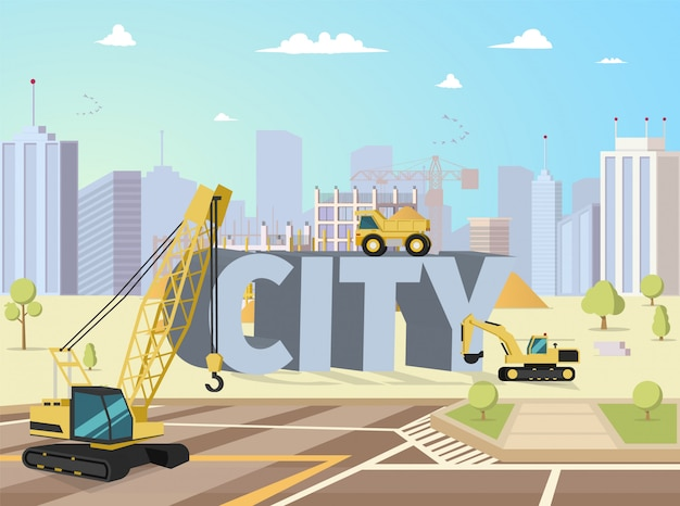 Bâtiments de construction de ville moderne